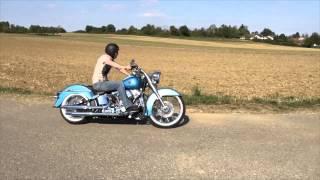 Harley Davidson FLSTN Softail Deluxe iPhone 6 SlowMotion