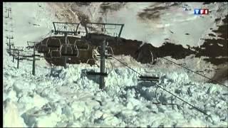 Avalanche Destroys Ski Lift