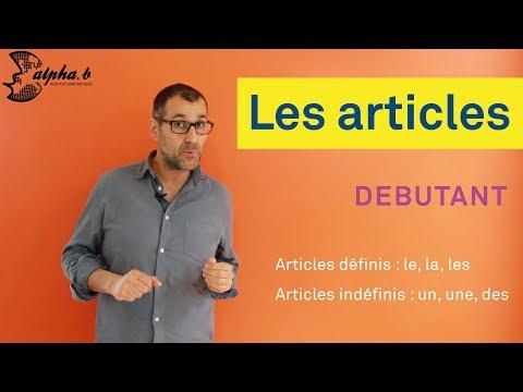 Cours de français pour débutants - Articles définis (le, la, les) et indéfinis (un, une, des)