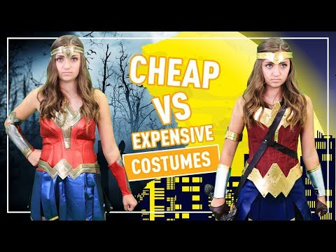 CHEAP vs. EXPENSIVE HALLOWEEN COSTUMES  👻🎃💀 | Kamri Noel
