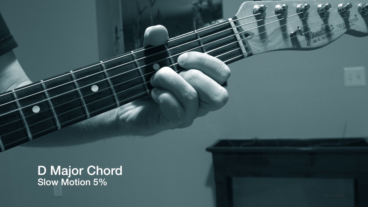 D Major Guitar Chord In Slow Motion 5 Speed Really Creepy And