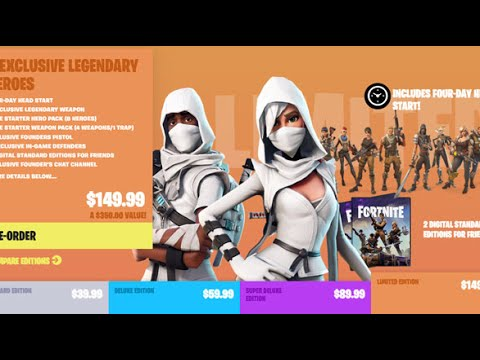 Fortnite Buying Limited Edition Founder's Pack Regrets