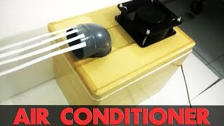 How To Make Air Conditioner At Home - Very Easy