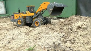 RC CONSTRUCTION SITE, RC WHEEL LOADER AT WORK, RC ROADWORKER