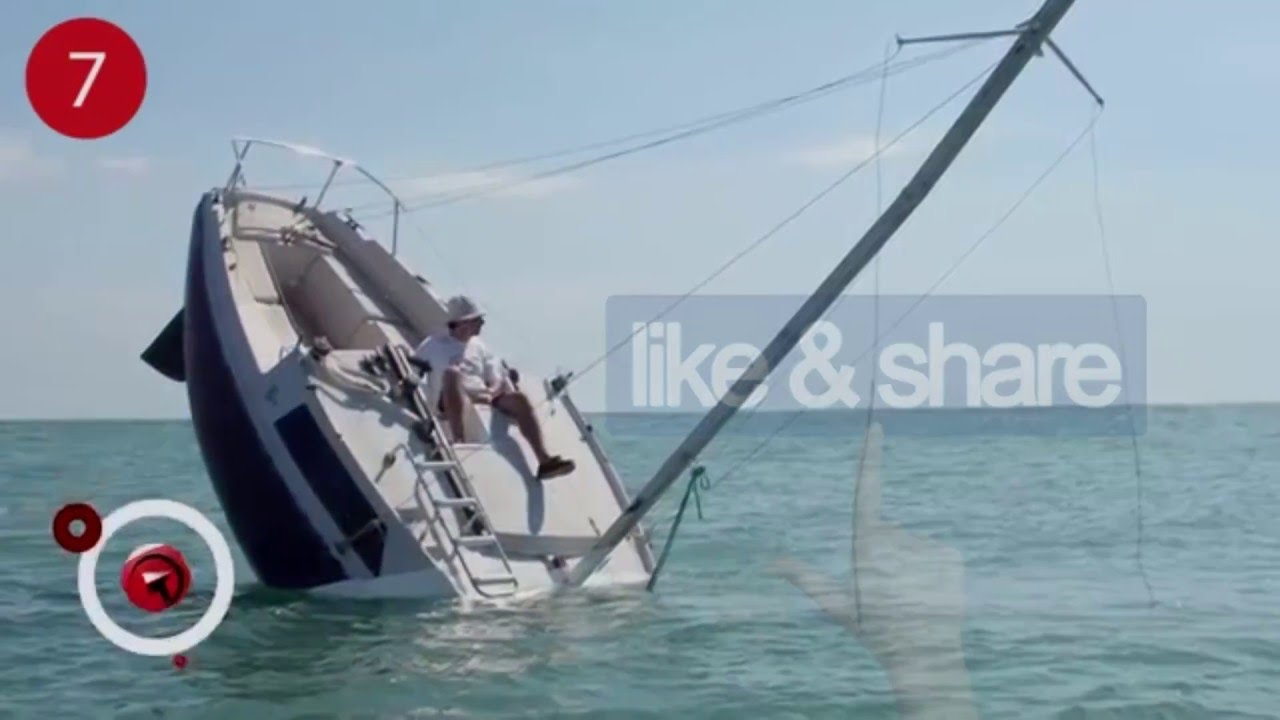 is this sailboat sinking for real we couldn t believe it youtube