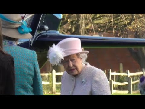 Her Majesty The Queen Departure From Chichester - 30th November 2017