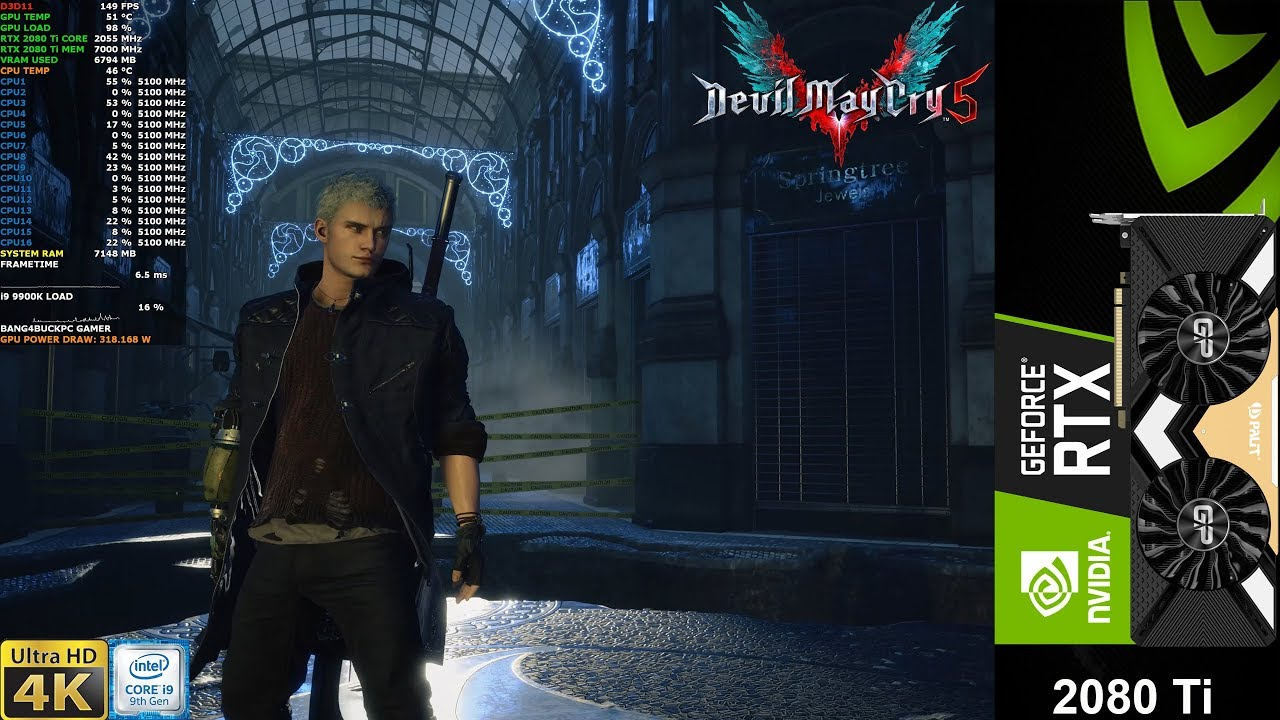Devil May Cry 5 Max Settings 4K | RTX 2080 Ti | i9 9900K 5.1GHz