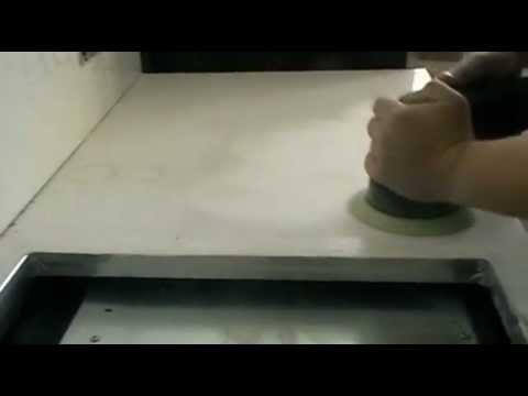 Полировка столешницы из искусственного камня - YouTube
