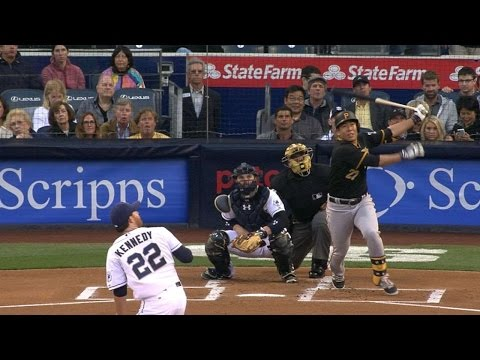 5/28/15: Pirates use early home runs to rout Padres
