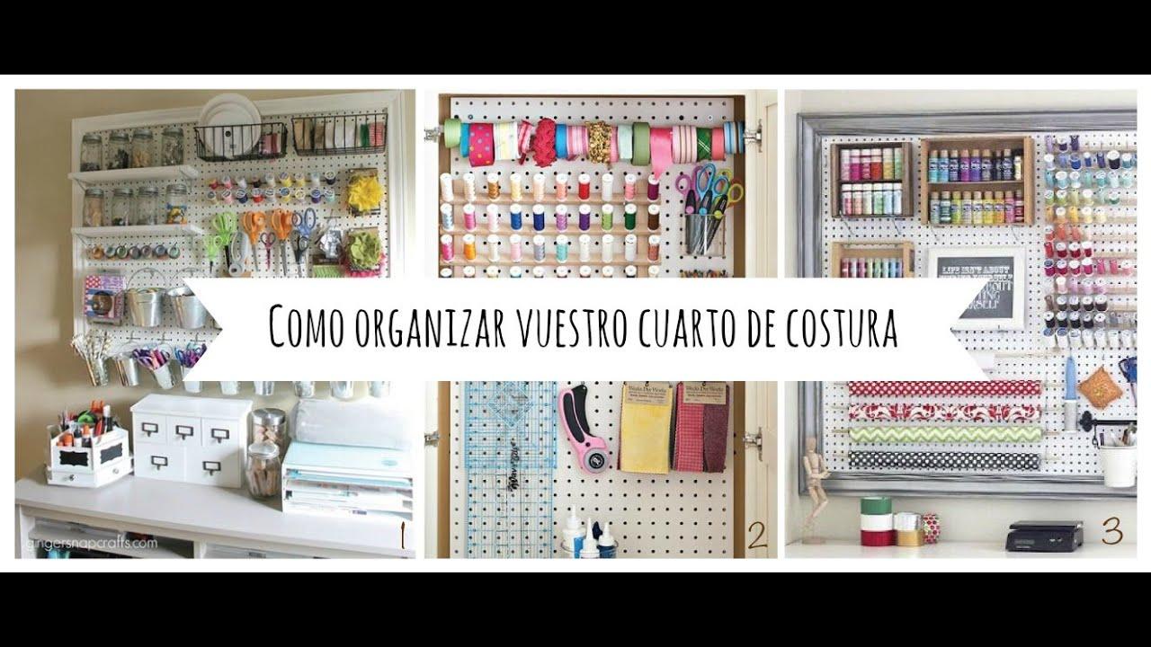 INSPO - Ideas para organizar vuestro cuarto de costura - YouTube