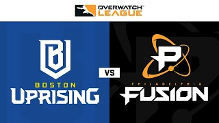 Boston Uprising vs Philadelphia Fusion | Hosted by Houston Outlaws | Day 2