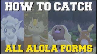 HOW TO CATCH ALL ALOLA FORMS IN POKEMON SWORD AND SHIELD (HOW TO GET ALOLAN FORMS)