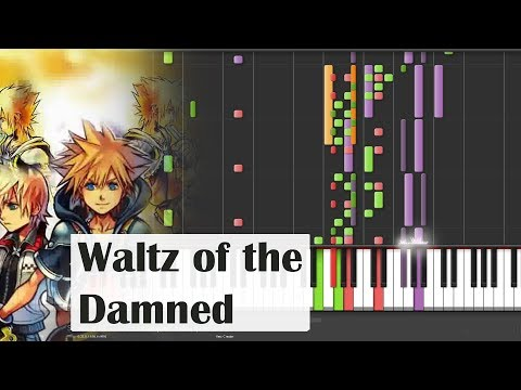 Piano Kingdom Hearts 2 Waltz of the Damned Synthesia 100% speed