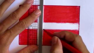 Denmark flag drawing with crayon color | hand drawing