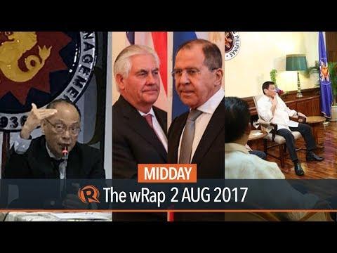 Duterte, Diokno, Tillerson   Midday wRap