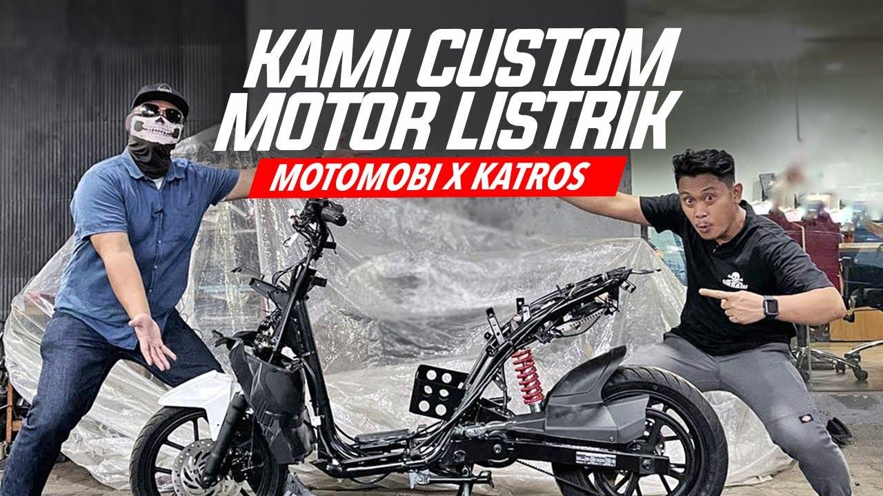 Custom Motor Listrik Gesits Bareng MotoMobi #AtenxKatros