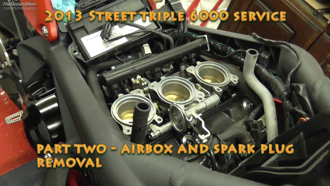 2013 Street Triple R 6000 Service Part Two Air Box And Spark Plug