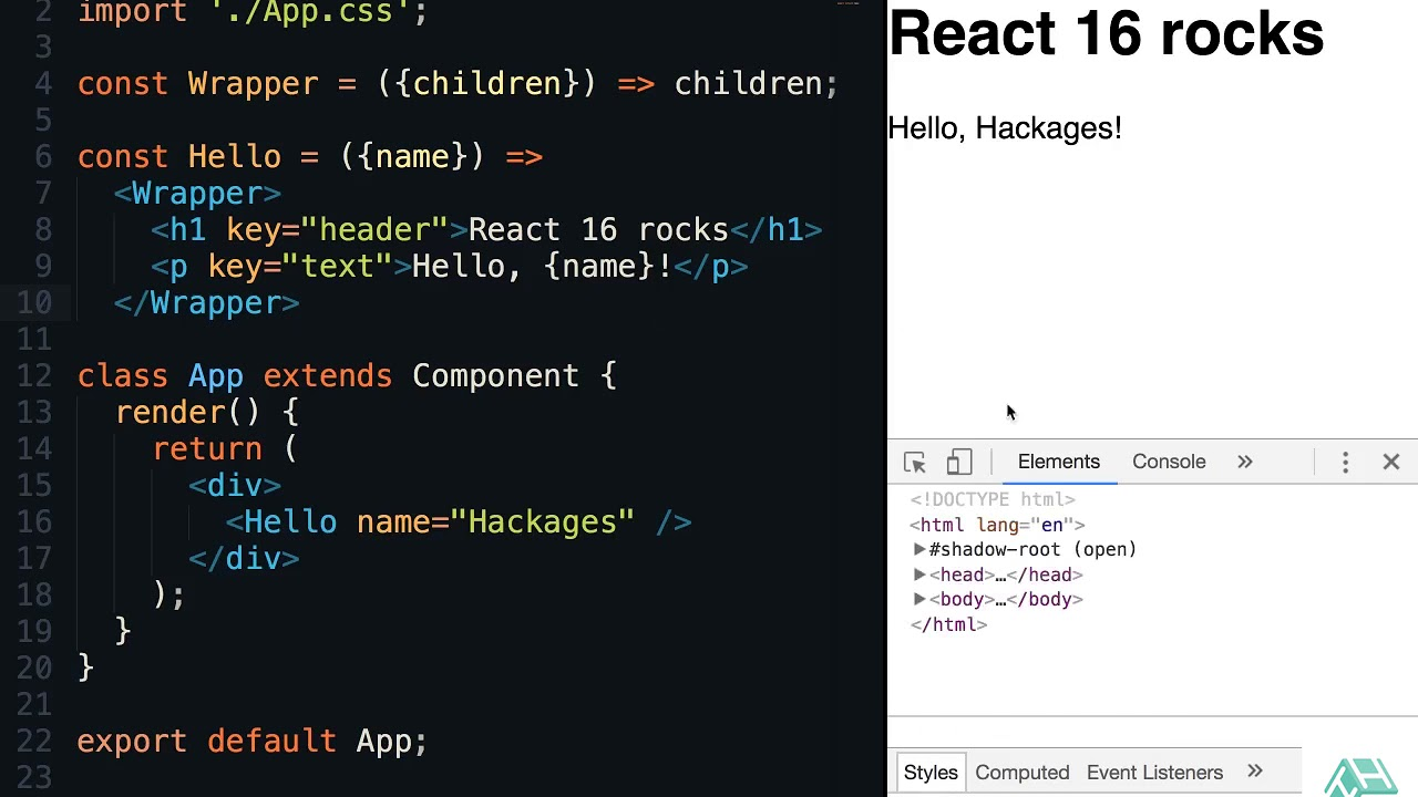 How to return multiple elements the right way in React 16 - Tutorial