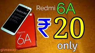 ₹ 20 only | Redmi 6A only ₹20 | Tricks to buy 6a from flash sale + review + unboxing + giveaway