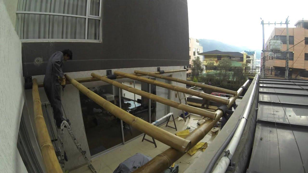 Timelapse pergola de bambu youtube - Pergolas de bambu ...