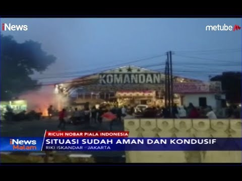 Kericuhan Nobar Final Piala Indonesia Berasal Dari Suporter Persija Di Luar Kafe - INews Malam 06/08