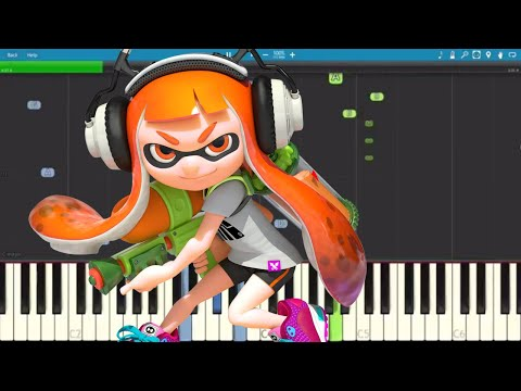 Splatoon Song Nintendo - Fandroid - Hard In The Paint - Piano Cover / Tutorial
