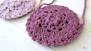 How to crochet a pretty circle bag / purse - the Willow bag