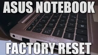 How to factory reset an Asus Windows 8 Notebook / Laptop (S200E)