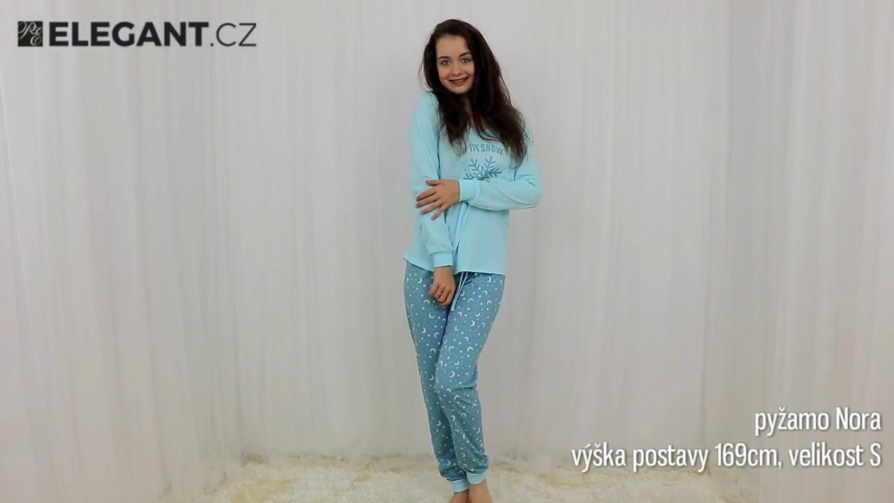 c8c2a9d177e3 Taro dámské pyžamo Nora tyrkysové - YouTube
