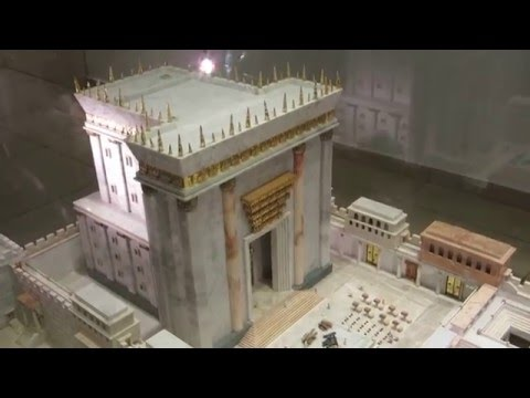 The model of the second temple (built by Herod) - The Temple Institute in Jerusalem (Jewish Quarter)