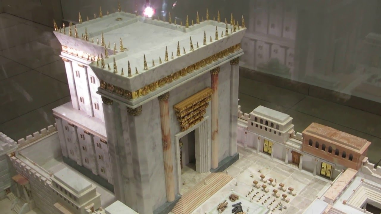 the model of the second temple built by herod the