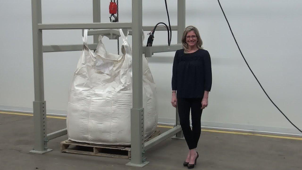 Bulk Bag Super Sack Unloading System Demonstration Youtube