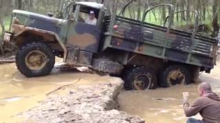 Military Truck Climbs Waterfall @ DTOR'S