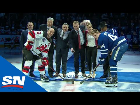 2018 Hockey Hall of Fame Class Honoured Before Maple Leafs & Devils Game