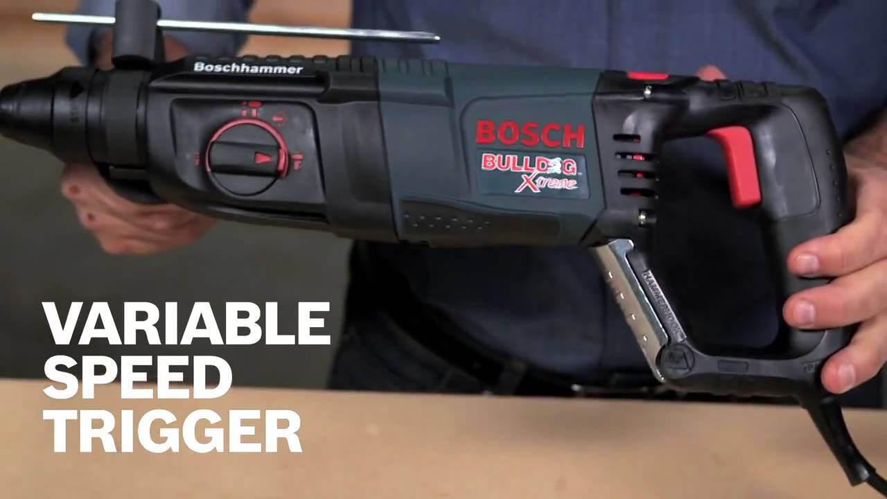 bosch bulldog hammer drill. bosch 1 in. sds-plus d-handle bulldog xtreme rotary hammer - 11255vsr bulldog drill
