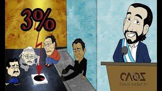 SALVADOREÑOS C0NDENAN AL 3% al FMLN y ARENA