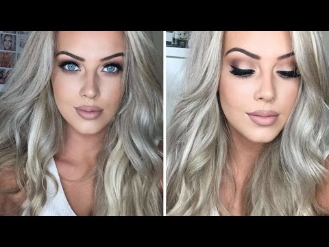 Prom Drugstore Eye Makeup & Hair Tutorial