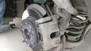 Быстрая проверка заднего суппорта при смене колес