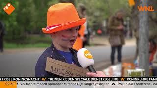 Koningsdag 2019: levende jukebox op vrijmarkt Amsterdam