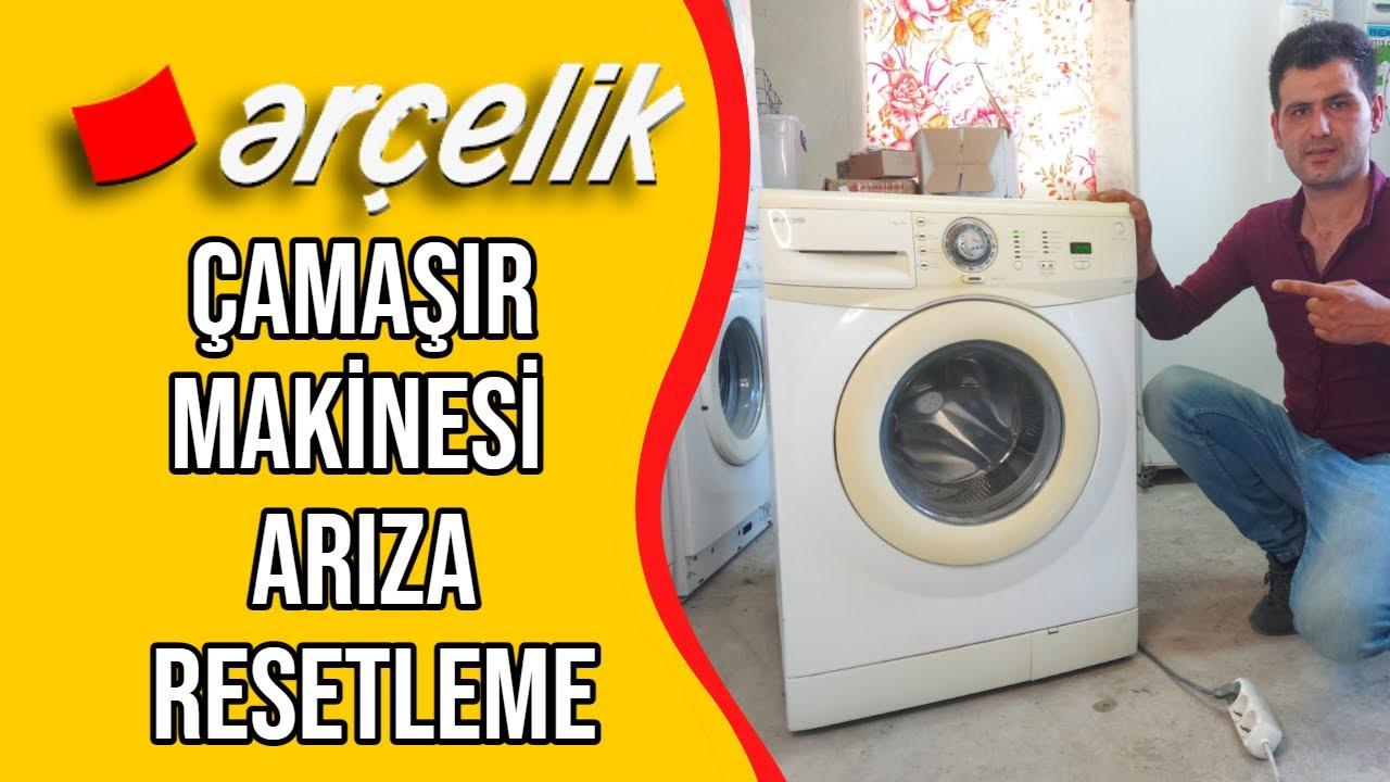 Arçelik Çamaşır Makinesi - Arıza Resetleme - Hata Kodu Silme Nasıl Yapılır  - YouTube