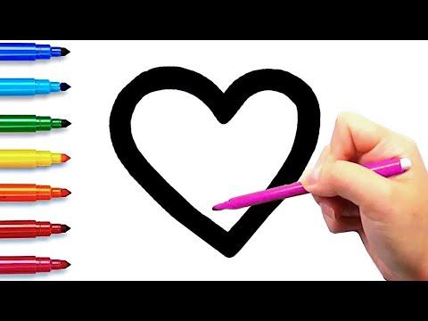 Раскраска для Детей Учим ФИГУРЫ и Цвета