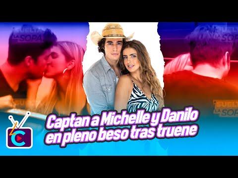 Captan a Michelle Renaud y Danilo Carrera en pleno beso tras truene