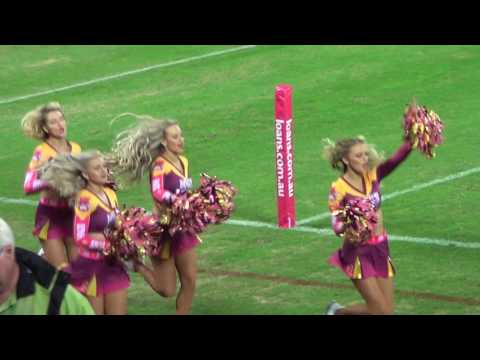 NRL 2017 - MIGHTY BRISBANE BRONCOS WITH THEIR SEXY CHEERLEADERS