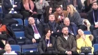 Тутберидзе и Загитова на трибунах ЧЕ 2019