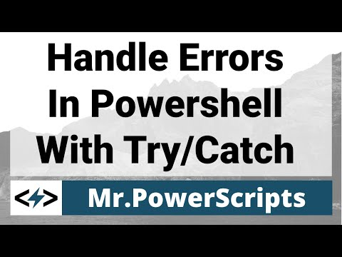 Handle Powershell Errors With Try Catch
