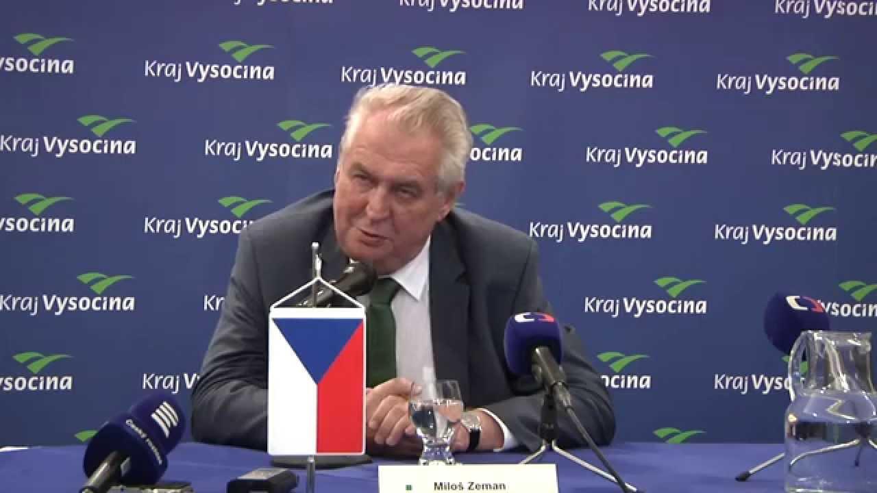 Milos Zeman Tiskova Konference Na Zaver Navstevy Kraje Vysocina