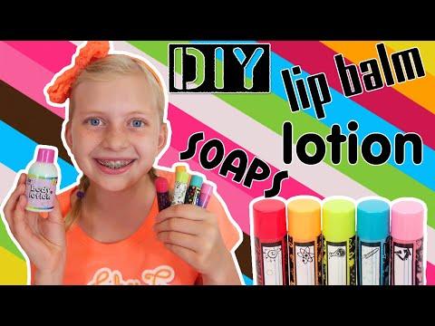 Diy Lip Balm Lotion Sparkly Soap