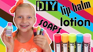DIY Lip Balm, Lotion & Sparkly Soap!