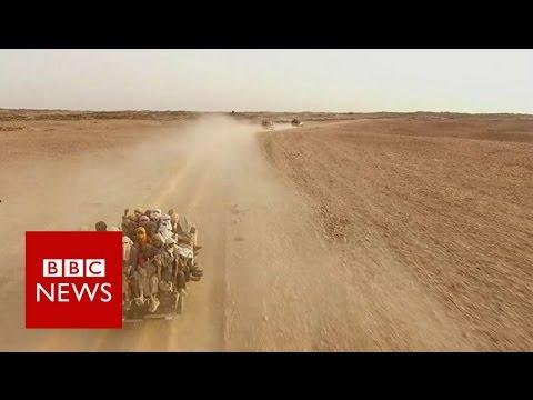 Agadez: Where desert journey from Africa to Europe begins - BBC News
