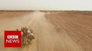 Agadez: Where desert journey from Africa to Europe begins - BBC News